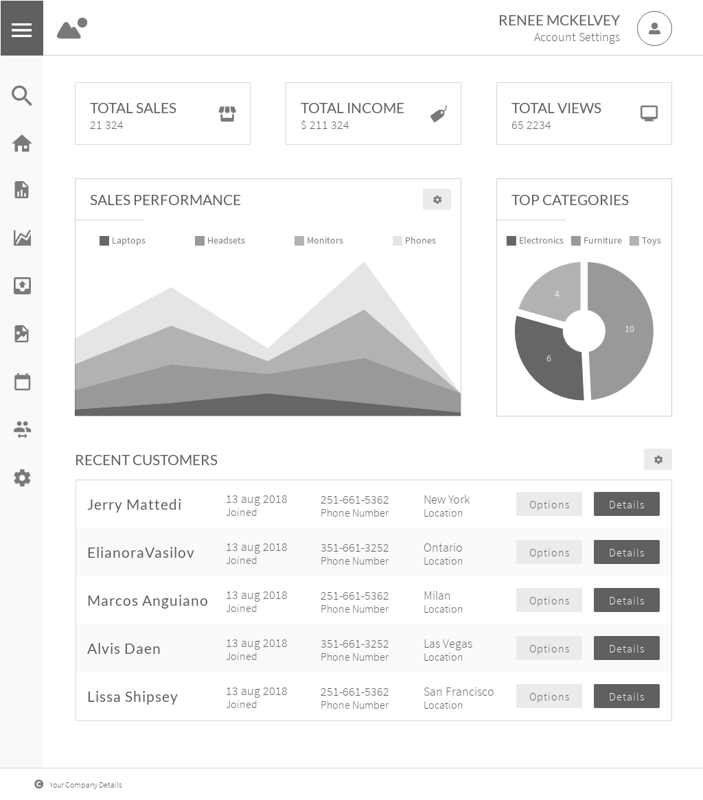free admin dashboard wireframe templates online with moqups. Black Bedroom Furniture Sets. Home Design Ideas