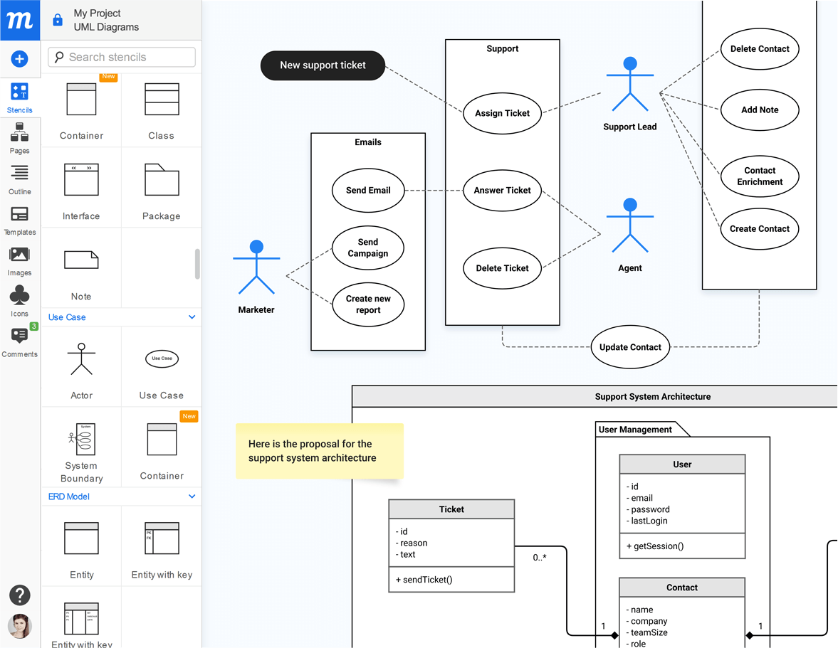 Moqups UML Diagram Tool